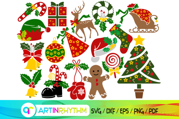 Christmas Svg Bundle, Merry Christmas Graphic Crafts By artinrhythm