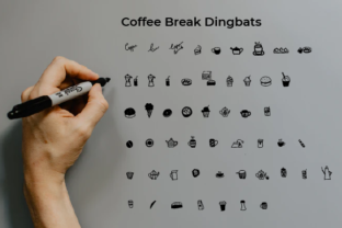 Print on Demand: Coffee Break Dingbats Font By Typekamu