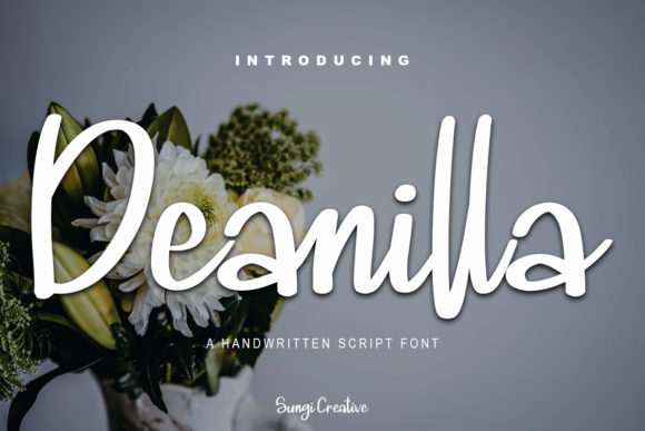 Print on Demand: Deanilla Script & Handwritten Font By SungiCreative