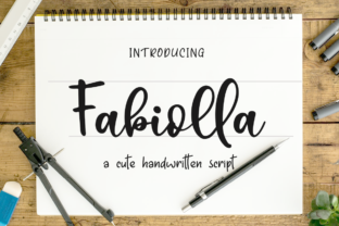 Print on Demand: Fabiolla Script & Handwritten Font By Haksen