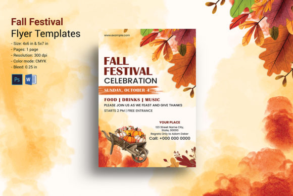 Print on Demand: Fall / Autumn Party Flyer Template Graphic Print Templates By sistecbd