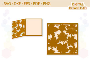 Fall Leaves Greetings Card Template Graphic 3D SVG By SerraDigital 1