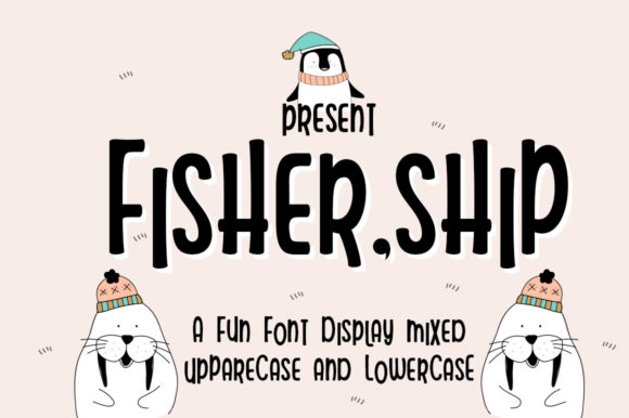 Print on Demand: Fisher Ship Display Font By edwar.sp111
