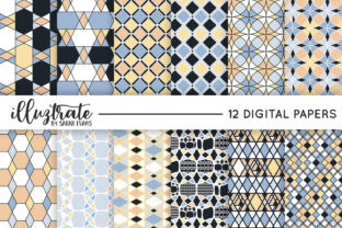 Print on Demand: Geometric Seamless Vector Patterns Graphic Patterns By illuztrate