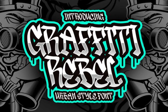 Print on Demand: Graffiti Rebel Display Font By Blankids Studio