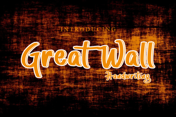 Print on Demand: Great Wall Script & Handwritten Font By gunawanletter