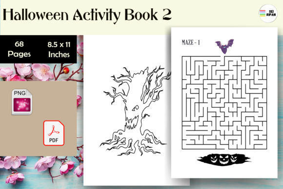 Print on Demand: Halloween Activity Book 2 - KDP Graphic KDP Interiors By Sei Ripan