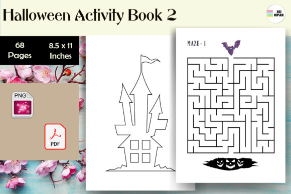 Print on Demand: Halloween Activity Book 3 -KDP Graphic KDP Interiors By Sei Ripan
