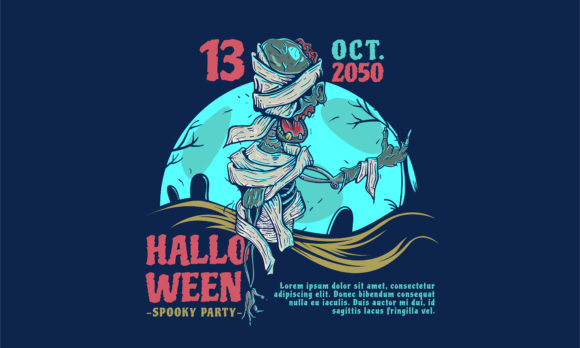 Print on Demand: Halloween Party Invitation Graphic Graphic Templates By be young