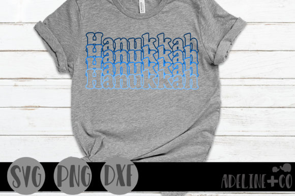 Hanukkah, Stacked Graphic Crafts By adelinenco