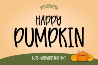 Print on Demand: Happy Pumpkin Display Font By Pila Studio