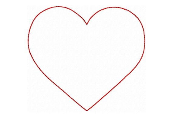 Heart Outline Design Valentine's Day Embroidery Design By Sweet Embroidery Designs