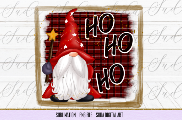 Print on Demand: Ho Ho Ho Gnomes Christmas Sublimation Graphic Illustrations By Suda Digital Art