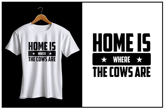 Print on Demand: Home is Where the Cows Are Graphic Crafts By Zaibbb