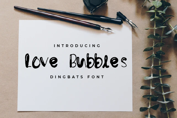 Print on Demand: Love Bubbles Display Font By Yafont
