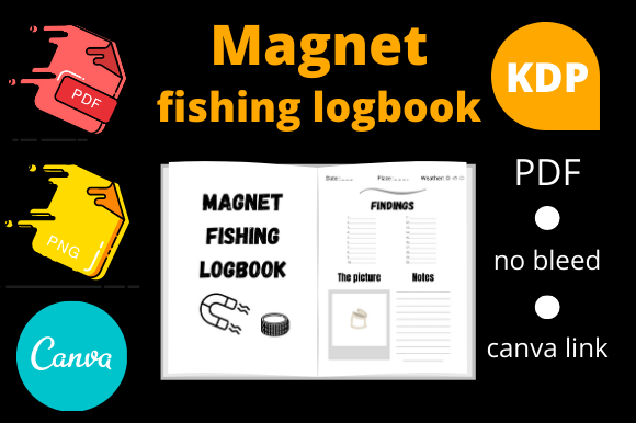 Download Magnet Fishing Logbook Kdp Interior Graphic By Dunkyshot Creative Fabrica