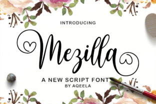 Print on Demand: Mezilla Script & Handwritten Font By Aqeela Studio