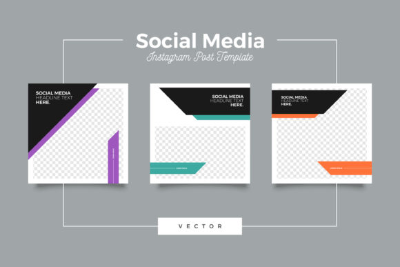 Print on Demand: Minimalist Instagram Post Template-Eps Graphic Graphic Templates By Novendi88