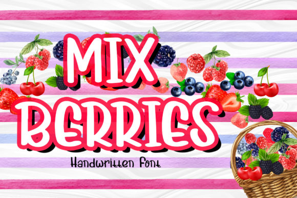 Print on Demand: Mix Berries Display Font By boogaletter