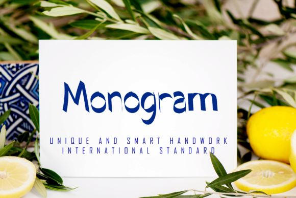Print on Demand: Monogram Script & Handwritten Font By giatstudios