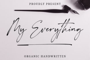 Print on Demand: My Everything Script & Handwritten Font By Typesthetic Studio
