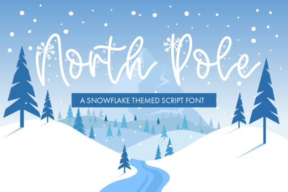 Print on Demand: North Pole Script & Handwritten Font By freelingdesignhouse