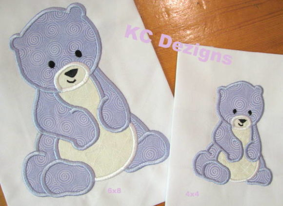 Polar Bear Applique Wild Animals Embroidery Design By karen50