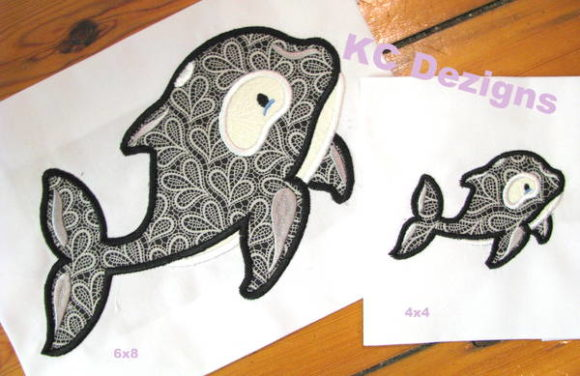 Polar Whale Applique Wild Animals Embroidery Design By karen50