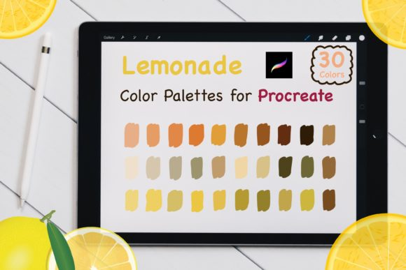 Procreate Color Palettes Set - Lemonade Graphic Add-ons By jennythip