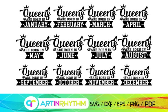 Queen Re Born in, Queen Are Born in Svg Graphic Crafts By artinrhythm