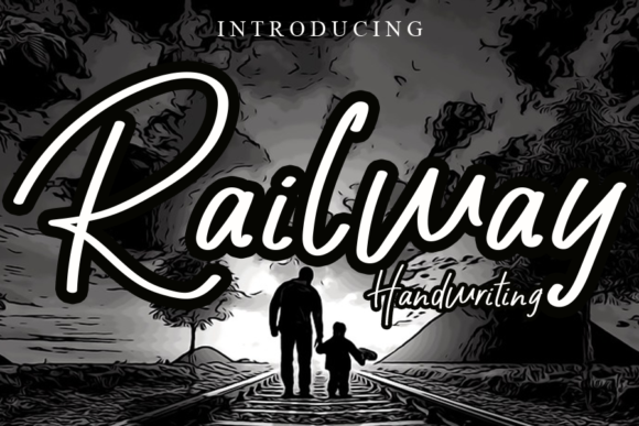 Print on Demand: Railway Script & Handwritten Font By gunawanletter