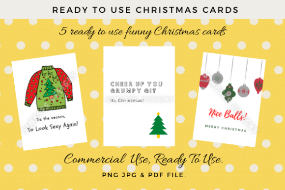 ready to use funny christmas cards graphic by simpsys designs creative fabrica ready to use funny christmas cards
