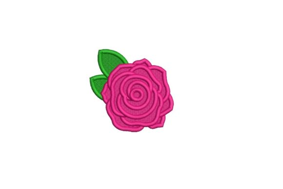 Rose Design Single Flowers & Plants Embroidery Design By Sweet Embroidery Designs