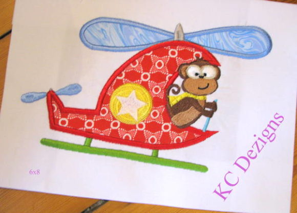 Safari Pilot Monkey Applique Boys & Girls Embroidery Design By karen50