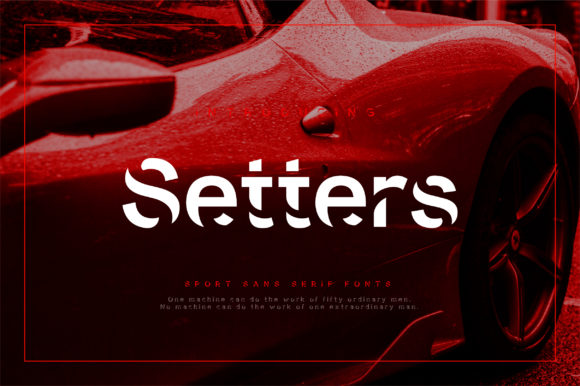 Print on Demand: Setters Display Font By geengraphy
