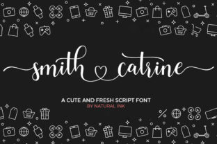Print on Demand: Smith Catrine Script & Handwritten Font By Natural Ink