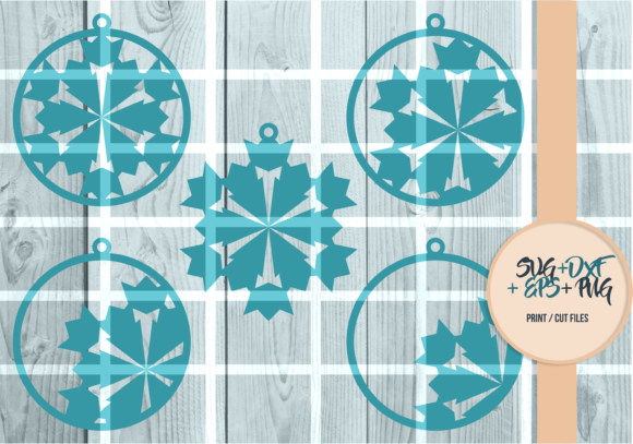 Print on Demand: Snowflakes Ball, Christmas Series 001 Graphic Print Templates By Cerescrafts