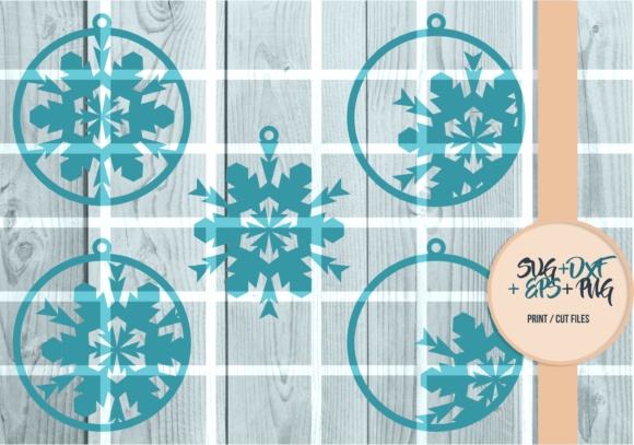 Print on Demand: Snowflakes Ball, Christmas Series 002 Graphic Print Templates By Cerescrafts