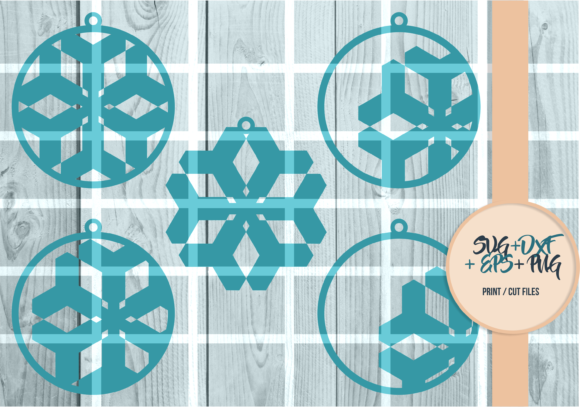 Print on Demand: Snowflakes Ball, Christmas Series 003 Graphic Print Templates By Cerescrafts