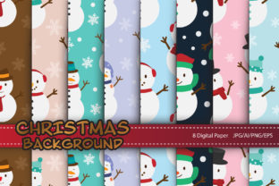 Print on Demand: Snowman Pattern for Christmas Concept Graphic Patterns By IsaraDesign