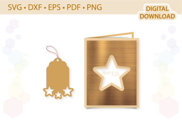 Star Card Gift Tag Bundle Template Graphic 3D SVG By SerraDigital