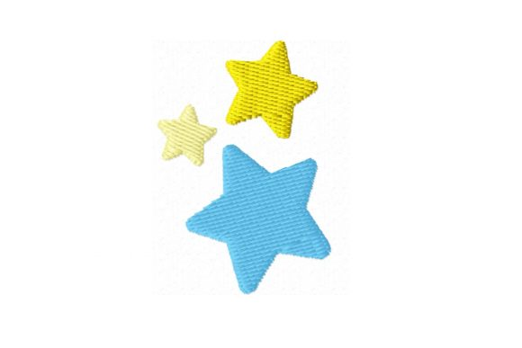 Stars Embroidery Design Embroidery