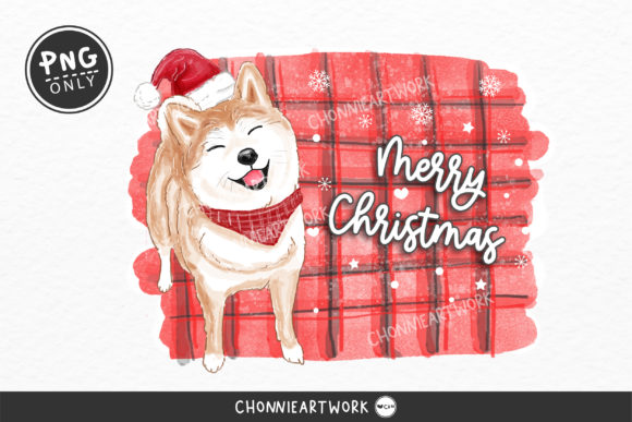 Sublimation Pug Dog and Christmas Hat Graphic Crafts By Chonnieartwork
