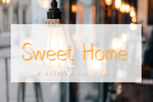 Print on Demand: Sweet Home Display Font By giartstudios