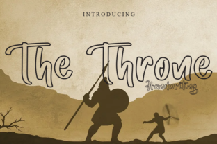 Print on Demand: The Throne Script & Handwritten Font By ink paper