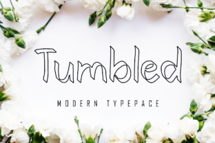 Print on Demand: Tumbled Display Font By giartstudios