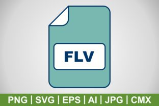 Print on Demand: Vector FLV Icon Graphic Icons By IYIKON