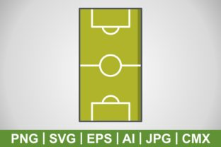 Print on Demand: Vector Football Field Icon Graphic Icons By IYIKON