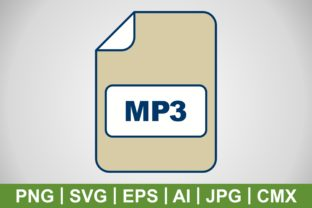 Print on Demand: Vector MP3 Icon Graphic Icons By IYIKON