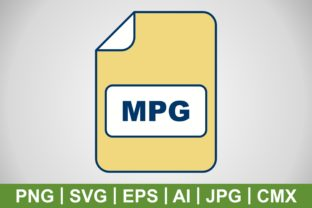 Print on Demand: Vector MPG Icon Graphic Icons By IYIKON